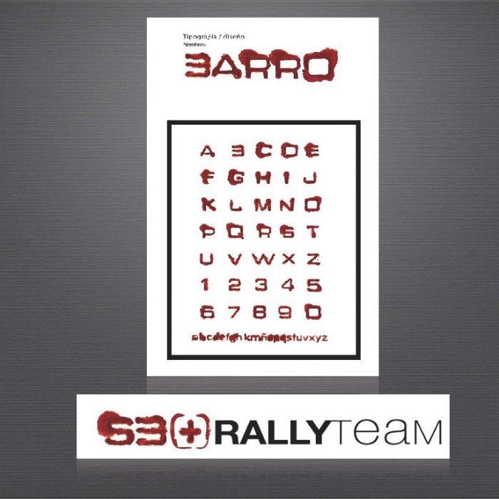 Tipografia escuderia rally